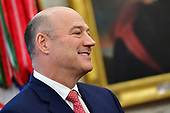 Outgoing White House chief economic adviser Gary Cohn attends a meeting with President Donald Trump and the Crown Prince Mohammed bin Salman of the Kingdom of Saudi Arabia in the Oval Office at the White House on March 20, 2018 in Washington, D.C. <br /> Credit: Kevin Dietsch / Pool via CNP