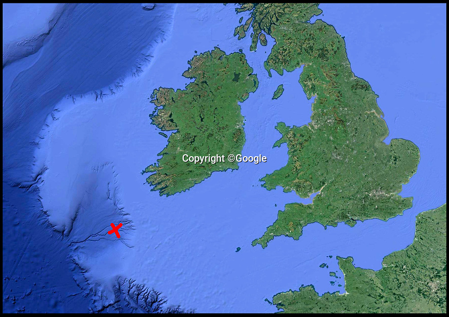 BNPS.co.uk (01202 558833)<br /> Pic:  Google<br /> <br /> Map showing the area where the shark was sighted.<br /> <br /> A deadly hammerhead shark has been sighted in UK waters for the first ever time, scientists today revealed.<br /> <br /> The predator, that has a distinctive hammer-shaped flattened head, was spotted in the Celtic Sea, between the south coast of Ireland and the south west of England.<br /> <br /> Its appearance on the surface of the sea was fleeting but enough for two marine scientists to positively identify it.<br /> <br /> The sighting comes a week after a marine expert predicted that some shark species such as the Great White and hammerhead could become regular visitors to British waters by 2050 due to rising sea temperatures.