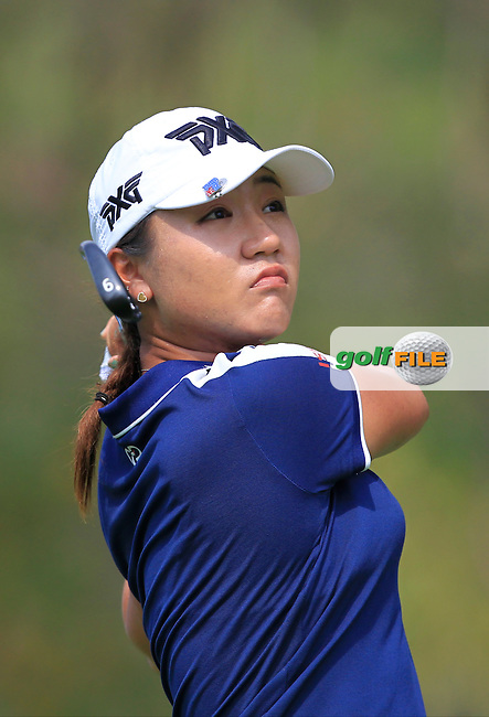 Lydia Ko (NZL) on the 12th tee during Round 1 of the Honda LPGA Thailand on Thursday 23rd February 2017.<br /> Picture:  Thos Caffrey / Golffile