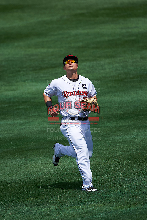 Rochester Red Wings right fielder Tommy Field (59) during a game against the Columbus Clippers on June 16, 2016 at Frontier Field in Rochester, New York.  Rochester defeated Columbus 6-2.  (Mike Janes/Four Seam Images)
