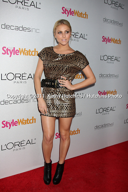 "LOS ANGELES - JAN 27:  Cassie Scerbo arrives at ""A Night of Red-Carpet Style"" Party hosted by People Stylewatch Magazine at Decades Boutique on January 27, 2011 in Los Angeles, CA"
