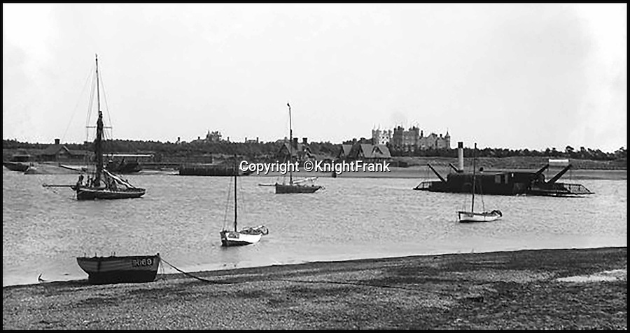 BNPS.co.uk (01202 558833)<br /> Pic: KnightFrank/BNPS<br /> <br /> Bawdsey Manor in 1894.<br /> <br /> Making waves - Seaside Suffolk mansion that was in the frontline of the top secret battle to defeat the luftwaffe during WW2 is on the market.<br /> <br /> A stunning Grade II* listed coastal manor house which was Britain's first radar station and survived multiple Luftwaffe attacks is now up for grabs.<br /> <br /> Bawdsey Manor is a home fit for royalty - a grand 144-acre estate on the Suffolk coast with a mansion that looks like the Queen's much-loved Sandringham House nearby.<br /> <br /> The impressive property, which also comes with quayside cottages and even has its own beach access, is on the market with estate agents Knight Frank with a guide price of £5million.