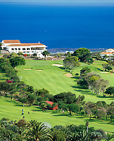 "Spanien, Kanarische Inseln, Gran Canaria, Bandama: ""Koeniglicher Golfclub"" - Real Club de Golf de Las Palmas -, aeltester Golfclub Spaniens, gegruendet 1891 
