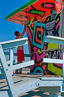 Playa Del Rey, CA, N40, Lifeguard Station, SoCal Beach, Lifeguard, Summer of Color, exhibit, Lifeguard, Towers, Portraits of Hope, Geometric, shapes,
