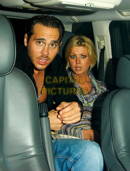TARA REID & GUEST.Vodafone & MOBO afterparty at Movida, London, England..September 19th, 2007.half length car purple top .CAP/SW.©Stephen Walters/Capital Pictures.