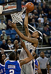March 3, 2012:   Nevada Wolf Packs Devonte Elliott goes up to dunk the ball against the Louisiana Tech Bulldogs during their NCAA basketball game played at Lawlor Events Center on Saturday night in Reno, Nevada.
