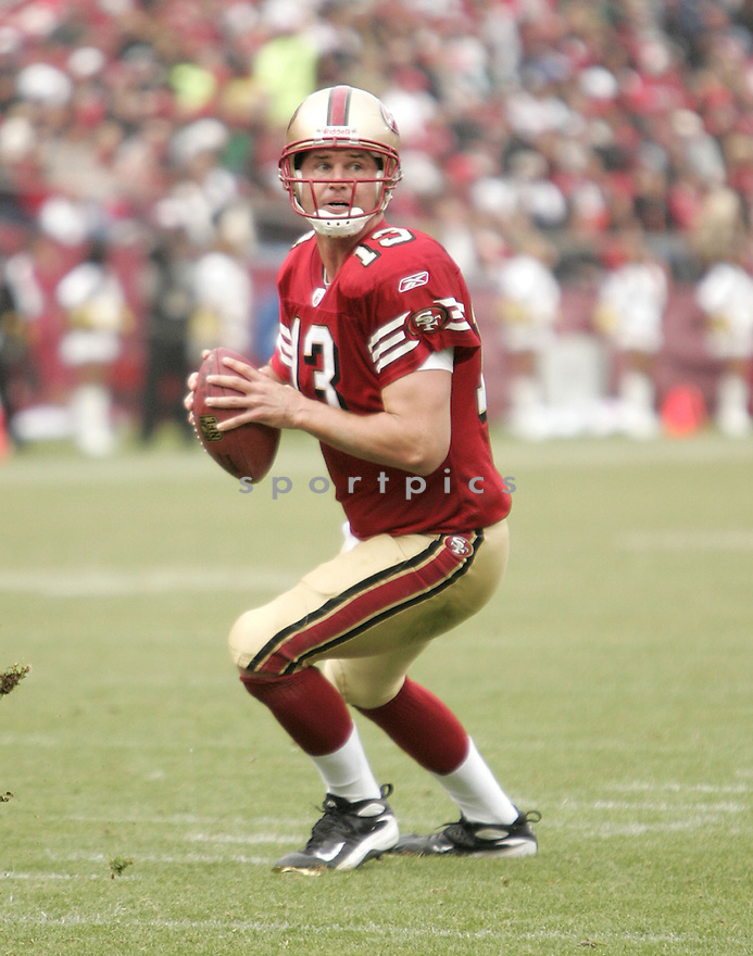 SHAUN HILL, of the San Francisco 49ers  , in action  during the Jets game against the New York Jets on December 7, 2008 in San Francisco, CA...49ers win 24-14