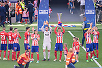 Fernando Torres of Atletico de Madrid (R) celebrating with his teammates during the La Liga match between Atletico Madrid and Eibar at Wanda Metropolitano Stadium on May 20, 2018 in Madrid, Spain. Photo by Diego Souto / Power Sport Images