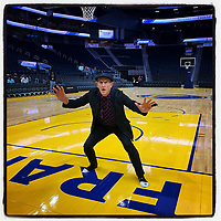 SAN FRANCISCO, CA - AUGUST 28:  iPhone Instagram of photographer Michael Zagaris playing defense at the new home of the Golden State Warriors, the Chase Center on August 28, 2019 in San Francisco, California. (Photo by Brad Mangin)