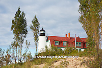 64795-00911 Point Betsie Lighthouse on Lake Michigan, Benzie County, Frankfort, MI