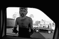 View from the car window, Mumbai faces, poverty in Mumbai, central Mumbai,India