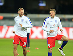 England's Danny Drinkwater warms up with Jamie Vardy during the International Friendly match at Olympiastadion.  Photo credit should read: David Klein/Sportimage