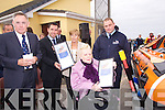 The family of Bradley and Sonya where presented with a special pic of the Bradley and Sonya inshore RNLI life boat on Saturday at Fenit Piere by Mr Tom McCormack and Garrett Mossison, l-r: Tom McCormack,(LMG Chairman) Garretth Morrison, Mary Savage, Tommy Byrne and Eileen Savage...................