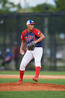 Oliver Lora (10) during the Dominican Prospect League Elite Florida Event at Pompano Beach Baseball Park on October 14, 2019 in Pompano beach, Florida.  (Mike Janes/Four Seam Images)