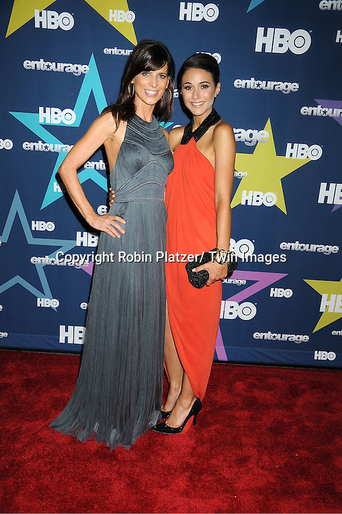 "Perrey Reeves and Emmanuelle Chriqui attending The Eighth and Final Season Premiere of the HBO Show ""Entourage"" on July 19, 2011 at The Beacon Theatre in New York City."