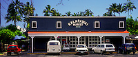 Kalapawai Market, founded in 1932, is a famous landmark in Kailua town on Oahu's windward side for locals and tourists to get their supplies en route to Kailua Beach, located directly behind the store.