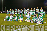 TOP TEAM: The Killarney Celtic mascot's with Airtricity Premier League Champions Shamrock Rovers at Celtic Park, Killarney on Tuesday.