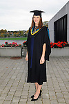 23/10/2015  Pictured at the recent Mary Immaculate College conferring ceremonies was Grainne Moriarty, Rochestown, Co. Cork, who graduated with a B.Ed in Psychology. 625 students from 20 counties and 3 continents were conferred with academic awards across the College&rsquo;s 27 programmes including the College&rsquo;s 100th PhD award.<br /> Pic: Gareth Williams / Press 22<br /> <br /> Press Release: 23rd October 2015Education is a movement of formation that enables the individual to play their role in transforming society for the common good.100th PhD Graduate Conferred at Mary Immaculate CollegeEducation is a movement of formation that enables the individual to play their role in transforming society for the common good according to Prof. Michael A Hayes, President of Mary Immaculate College, who was speaking at the College&rsquo;s conferring ceremonies today Friday 23rd October. The quality of advanced scholarship at Mary Immaculate College was evident on the day as the 100th PhD graduate was conferred along with close on 650 students from 20 counties and 3 continents all of whom graduated with academic awards across the College&rsquo;s 27 programmes. Congratulating all those graduating the President said &ldquo;These ceremonies mark the high point of the College&rsquo;s year as we acknowledge the achievement of our students. The ceremonies this year are particularly special as we mark the conferring of our 100th PhD Graduate &ndash; this is a very proud achievement for us as a College and I want to congratulate those who have received these doctorates and my colleagues who supervised their work&rdquo;. Not only were students conferred with awards on undergraduate, diploma, graduate diploma and master programmes but this year marked the first graduation of students from the Certificate in General Learning &amp; Personal Development, a programme  for people with intellectual disabilities.&ldquo;Working with students with intellectual disabilities and offering them a third level experience is important to us&rdquo; said Prof.