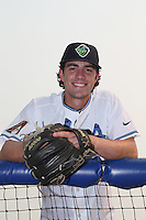 First overall draft pick in the 2015 Major League Baseball Player Draft, Dansby Swanson (7) of the Hillsboro Hops poses for some photos before a game against the Boise Hawks at Ron Tonkin Field on August 22, 2015 in Hillsboro, Oregon. Boise defeated Hillsboro, 6-4. (Larry Goren/Four Seam Images)