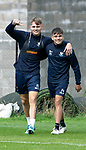 St Johnstone Training&hellip;24.08.18<br />Jason Kerr and Aaron Comrie pictured during training this morning at McDiarmid Park ahead of tomorrow&rsquo;s game against Dundee<br />Picture by Graeme Hart.<br />Copyright Perthshire Picture Agency<br />Tel: 01738 623350  Mobile: 07990 594431