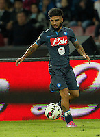 Lorenzo Insigne    in action during the Italian Serie A soccer match between SSC Napoli and Verona  at San Paolo stadium in Naples, October 26, 2014