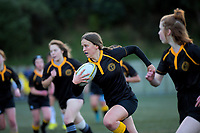 Action from the Wellington secondary schools girls 1st XV rugby match between Wellington East Girls' College and St Mary's College at Te Whaea in Wellington, New Zealand on Wednesday, 19 June 2019. Photo: Dave Lintott / lintottphoto.co.nz
