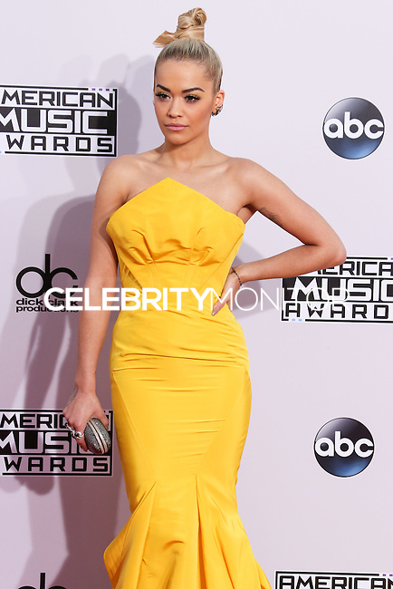 LOS ANGELES, CA, USA - NOVEMBER 23: Rita Ora arrives at the 2014 American Music Awards held at Nokia Theatre L.A. Live on November 23, 2014 in Los Angeles, California, United States. (Photo by Xavier Collin/Celebrity Monitor)