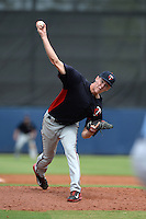 Minnesota Twins pitcher Mike Cederoth (85) during an Instructional League game against the Tampa Bay Rays on September 16, 2014 at Charlotte Sports Park in Port Charlotte, Florida.  (Mike Janes/Four Seam Images)