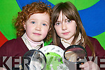 Science kids: Katelyn Flynn and Michelle Sheehy, both 1st class pupils of Scoil Naomh Brid in Duagh, who were just one of 31 Kerry schools in 2007 to achieve the Awards of Science Excellence as part of the Discover Primary Science (DPS) programme.   Copyright Kerry's Eye 2008