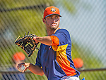 7 March 2013: Houston Astros pitcher Jarred Cosart warms up prior to a Spring Training game against the Washington Nationals at Osceola County Stadium in Kissimmee, Florida. The Astros defeated the Nationals 4-2 in Grapefruit League play. Mandatory Credit: Ed Wolfstein Photo *** RAW (NEF) Image File Available ***