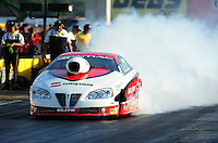 Sept. 2, 2011; Claremont, IN, USA: NHRA pro stock driver Chris McGaha during qualifying for the US Nationals at Lucas Oil Raceway. Mandatory Credit: Mark J. Rebilas-