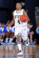 25 February 2010:  FIU's Phil Gary, Jr. (4) handles the ball in the second half as the Middle Tennessee Blue Raiders defeated the FIU Golden Panthers, 74-71, at the U.S. Century Bank Arena in Miami, Florida.