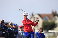 Cole Hammer (USA) on the 2nd tee during Day 2 Singles at the Walker Cup, Royal Liverpool Golf CLub, Hoylake, Cheshire, England. 08/09/2019.<br /> Picture Thos Caffrey / Golffile.ie<br /> <br /> All photo usage must carry mandatory copyright credit (© Golffile | Thos Caffrey)
