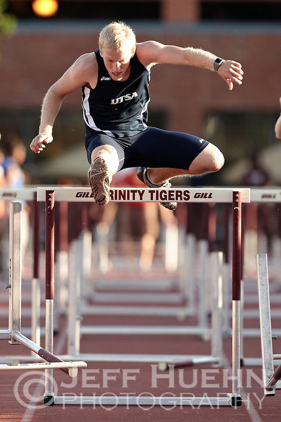 SAN ANTONIO, TX - MARCH 30, 2012: The Trinity University Tiger Relays Track & Field Meet at EM Stevens Stadium on the campus of Trinity University. (Photo by Jeff Huehn)