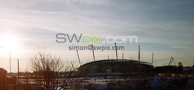 Pix: Matthew Lewis/SWpix.com. Commonwealth games. Manchester Aquatics centre. 10/12/2001...COPYWRIGHT PICTURE>>SIMON WILKINSON>>01943 436649>>..Manchester's Commonwealth Stadium..
