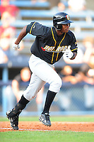 Tim Beckham Shortstop Bowling Green Hot Rods  (Tampa Bay Rays) runs to first base at McCormick Field August 6, 2009 in Asheville, North Carolina. (Photo by Tony Farlow/Four Seam Images)