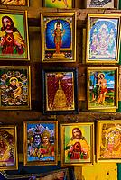 Iconic images of Hindu and Christian deities,  Trincomalee, Eastern Province, Sri Lanka.