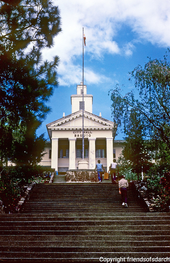 Philippines: Baguio--City Hall. Photo '82.