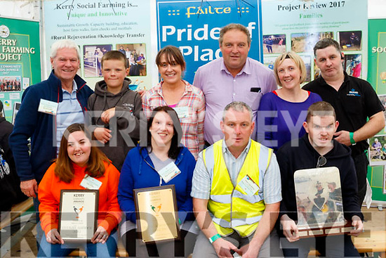 Farming<br /> -----------<br /> At the Kerry Social Farming desk in the Kerry Marquee last Tuesday at the National Ploughing Championships were, seated L-R Amy O' Dea, Rathmore, Mags O' Donoghue, Killarney, Joseph McCrohan, Reenard and Tim Heffernan, Listowel. Back L-R Kevin Griffin, Glenbeigh, Gene Horgan, Kilgarvan, Irene Kavanagh, Cahersiveen, Eamonn Horgan, Kilgarvan, Angie Smith, Killarney with Brendan Howard, Tralee.