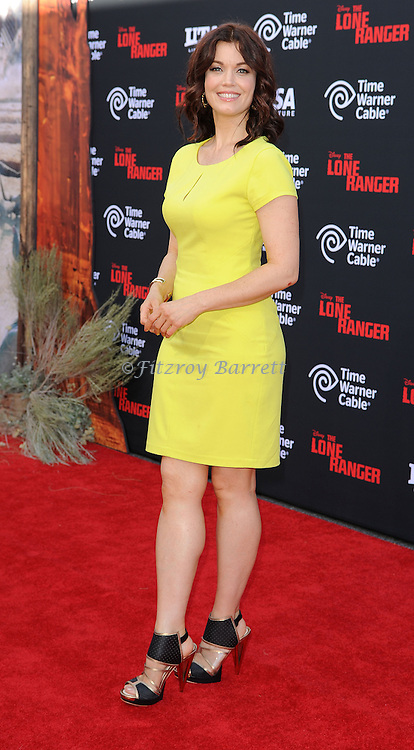 """Bellamy Young arriving to the World Premiere of  """"The Lone Ranger"""" held at Disney California Adventure Park on June 22, 2013."""