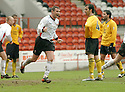 20040417    Copyright Pic: James Stewart.File Name : jspa05_clyde_v_raith.STUART MCLUSKEY CELEBRATES SCORING CLYDE'S SECOND....James Stewart Photo Agency 19 Carronlea Drive, Falkirk. FK2 8DN      Vat Reg No. 607 6932 25.Office     : +44 (0)1324 570906     .Mobile  : +44 (0)7721 416997.Fax         :  +44 (0)1324 570906.E-mail  :  jim@jspa.co.uk.If you require further information then contact Jim Stewart on any of the numbers above.........