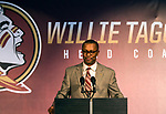Florida State University introduced Willie Taggart as their new NCAA college football coach in Tallahassee, Fla., Wed, Dec. 6, 2017.  (AP Photo/Mark Wallheiser)