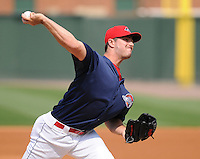 Pitcher Brandon Workman (32) of the Greenville Drive, Class A affiliate of the Boston Red Sox, in a game against the Asheville Tourists on May 1, 2011, at Fluor Field at the West End in Greenville, S.C. Workman was a second-round pick in the 2010 First-Year Player Draft. Photo by Tom Priddy / Four Seam Images