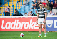 Picture by Allan McKenzie/SWpix.com - 10/05/2018 - Rugby League - Ladbrokes Challenge Cup - Featherstone Rovers v Hull FC - LD Nutrition Stadium, Featherstone, England - Jake Connor prepares to kick a conversion, Ladbrokes, branding.