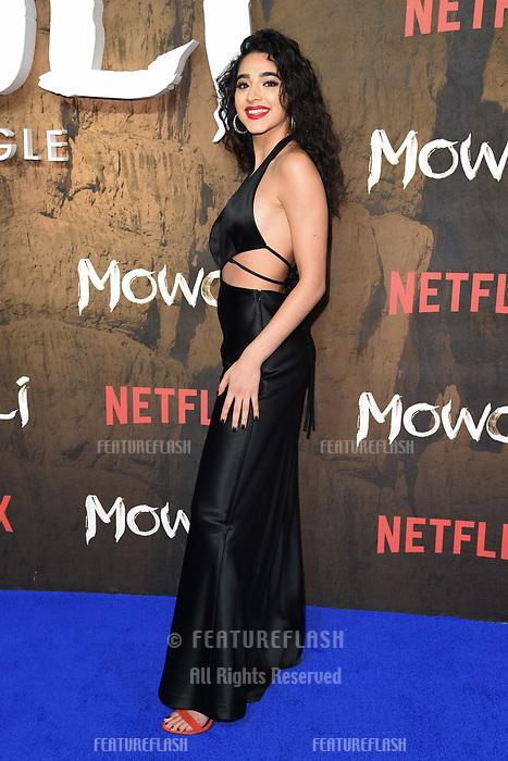 LONDON, UK. December 04, 2018: Kara Marni at the&quot;Mowgli: Legend of the Jungle&quot; premiere at the Curzon Mayfair, London.<br /> Picture: Steve Vas/Featureflash