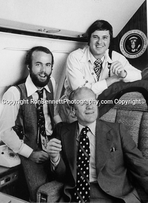 David H. Kennerly Ron Bennett and President Gerald Ford aboard Air Force One,  Photojournalist David Kennerly, Photojournalist Ron Bennett,