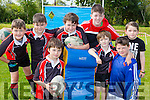 Having fun at the Killarney Rugby club family fun day on sunday were front row Jerimiah Landers, Sean Landersm Jack O'Sullivan. Back row: Josh Hewerdine, Stephen Walsh, Cathal Lannigan, Ryan Adam Walsh, and Ethan Hewerdine