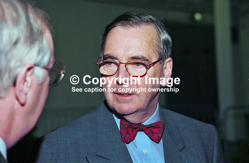 Brian Farrell, Broadcaster &amp; Academic, Rep of Ireland. Ref: 199811060<br /> <br /> Copyright Image from Victor Patterson, 54 Dorchester Park, Belfast, UK, BT9 6RJ<br /> <br /> t: +44 28 90661296<br /> m: +44 7802 353836<br /> vm: +44 20 88167153<br /> e1: victorpatterson@me.com<br /> e2: victorpatterson@gmail.com<br /> <br /> For my Terms and Conditions of Use go to www.victorpatterson.com