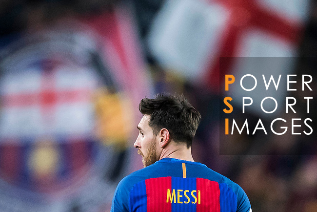 Lionel Andres Messi of FC Barcelona looks on during their Copa del Rey 2016-17 Semi-final match between FC Barcelona and Atletico de Madrid at the Camp Nou on 07 February 2017 in Barcelona, Spain. Photo by Diego Gonzalez Souto / Power Sport Images