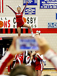 WATERBURY CT. 16 February 2018-021619SV11-Derby High competes in the NVL Cheerleading Championship at Crosby High School in Waterbury Saturday.<br /> Steven Valenti Republican-American